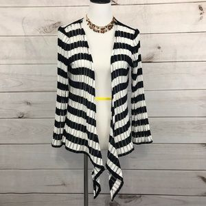 Coldwater Creek Tie Front Cardigan Size L Striped